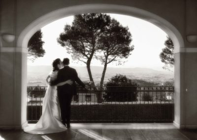 Sposi con vista panoramica