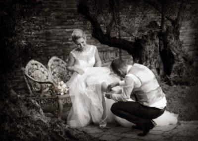 Simpatica foto di sposi