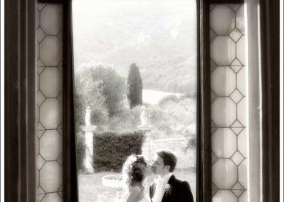 foto bacio degli sposi