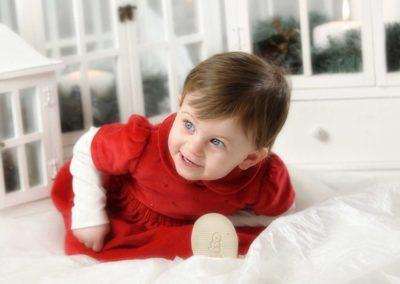 foto bambina a Natale